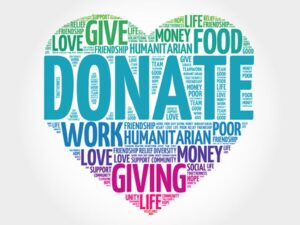 45100702 - donate word cloud, heart concept